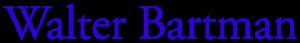 Walter Bartman Logo